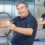 Seniors doing exercise